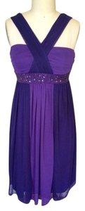 Intrigue short dress Purple on Tradesy