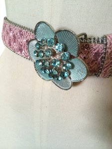 Other Blue Crystal Flower Belt