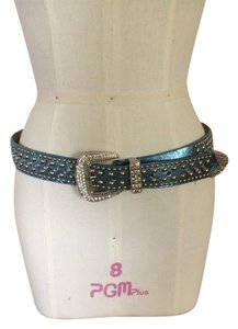 Blue Metalic Crystal Belt