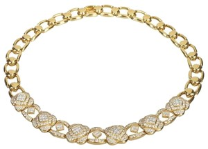 Diamond Leathers Diamond Yellow Gold Chain Link Necklace