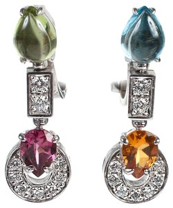 BVLGARI Bvlgari Allegra Color Collection Gemstone Yellow Gold Earrings