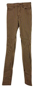 Tripp Nyc Vintage Inspired Striped Antique High Waisted Skinny Jeans-Medium Wash