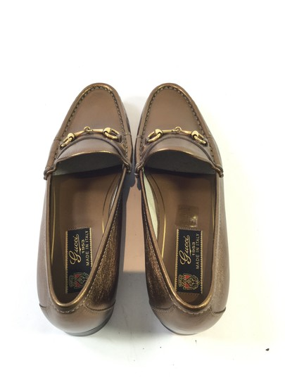 Gucci Nappa Leather Horsebit Loafer Light Bronze Boots