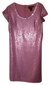 Nicole Miller Silk Embellished Sequins Wedding Party Designer Dress
