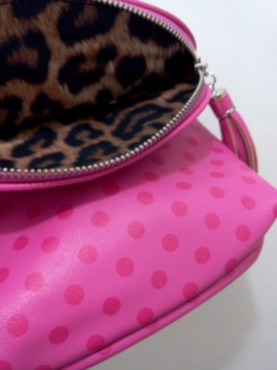 Jessica Simpson Leopard Pop I Love Cross Body Bag