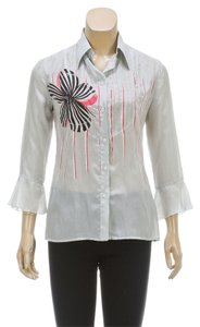 Emporio Armani Button Down Shirt Gray