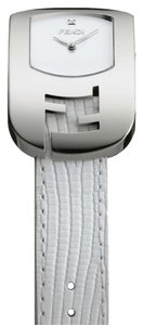 Fendi FENDI Chameleon Ladies Quartz Watch with Diamond Dial Stainless steel Lizard Leather Strap