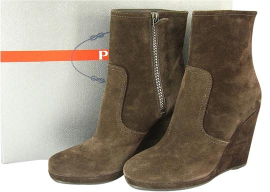 Prada Wedge Ankle Size 38 Brown Boots