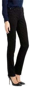 J.Crew Cord Corduroy Leg Low Rise Straight Pants Black