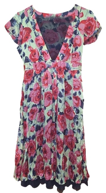 Free People short dress Cream With Pink, Red, And Blue on Tradesy