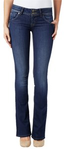 Hudson Jeans Womens Hudson Denim Midrise Flap Pocket Boot Cut Jeans-Dark Rinse