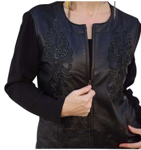 Other Motorcycle Silk Scroll Punk Goth Nasty Gal Urban Anthropologie Black Jacket