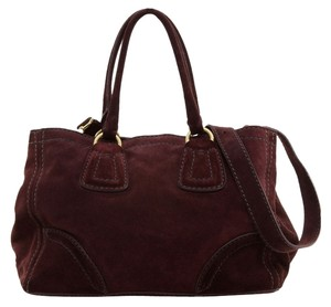 Prada Tote in Wine/Burgundy