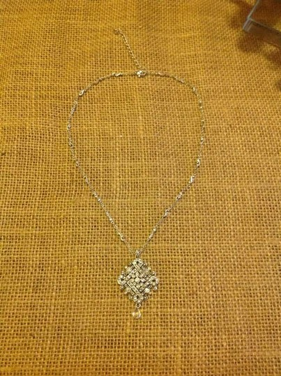 Liz Claiborne Silver Tone with Swarovski Crystals Necklace