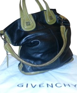 Givenchy Unique Practical Exotic Tote in Black & Olive Bicolor