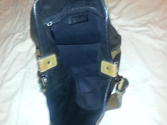 Givenchy Unique Practical Exotic Made In Italy Tote in Black & Olive Bicolor