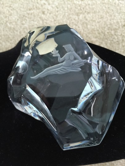 "Other Zodiac Sign ""Virgo"" Crystal Paperweight (Signed and Numbered)"