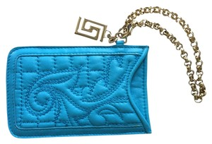 Versace VERSACE QUILTED LEATHER Scroll Phone Pouch