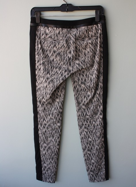 Rebecca Taylor Trousers Printed Skinny Pants Black