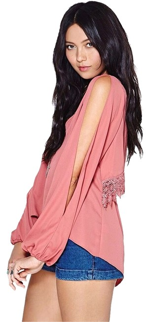 Preload https://item3.tradesy.com/images/pink-sexy-crochet-lace-blouse-size-8-m-3039082-0-0.jpg?width=400&height=650