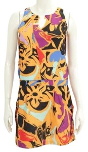 Balenciaga short dress Multicolor Sleeveless Silk Mini on Tradesy