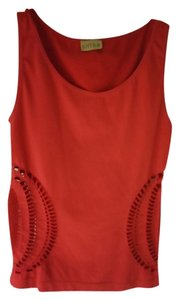Khyra With Cut Outs At Sides Stretchy Material Adorable With Jeans And Heels! Top Red