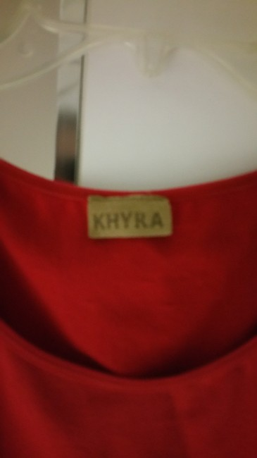 Khyra With Cut Outs At Sides Stretchy Material Adorable With Jeans And Heels Top Red