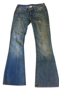 True Religion Flare Leg Jeans-Medium Wash