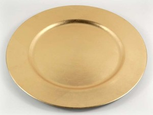 13' Acrylic Gold Charger Plates