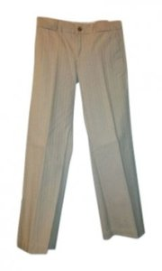 Gap Casual Friday After Work Business Trouser Pants Khaki with tone on tone pinstripe