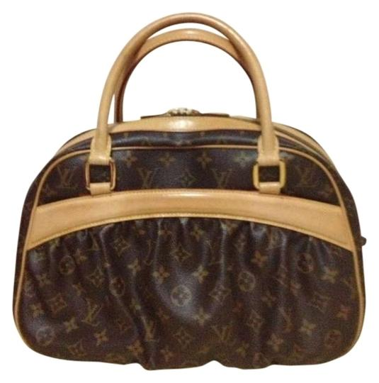 Preload https://item4.tradesy.com/images/louis-vuitton-mizi-reduced-price-rare-med-classic-monogram-leather-and-canvas-satchel-304073-0-0.jpg?width=440&height=440