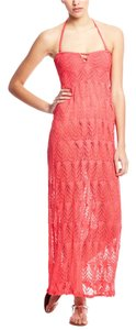 Red Carter RED CARTER Coverup Maxi Dress L Pink