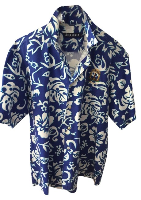 Preload https://item3.tradesy.com/images/royal-blue-and-white-men-s-tropical-shirt-embroidered-sailboat-palm-trees-resort-vacation-wear-new-b-3041527-0-0.jpg?width=400&height=650