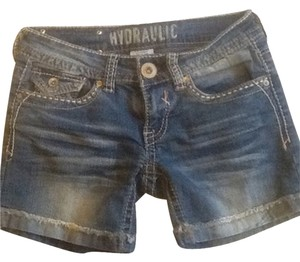 Hydraulic Denim Shorts-Medium Wash
