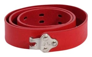J. Lindeberg J. Lindeberg Red Leather Belt Sz. M