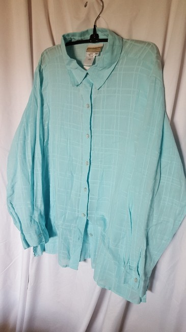 Coldwater Creek Button Down Shirt Baby Blue