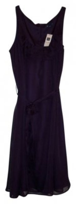 Gap short dress Plum Belted Ruffles Rn 54023 on Tradesy