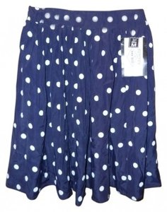 Other Skirt Navy Blue with White Polka dots