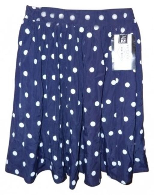 Preload https://item3.tradesy.com/images/navy-blue-with-white-polka-dots-loosely-pleated-great-for-work-or-fun-knee-length-skirt-size-petite--30437-0-0.jpg?width=400&height=650