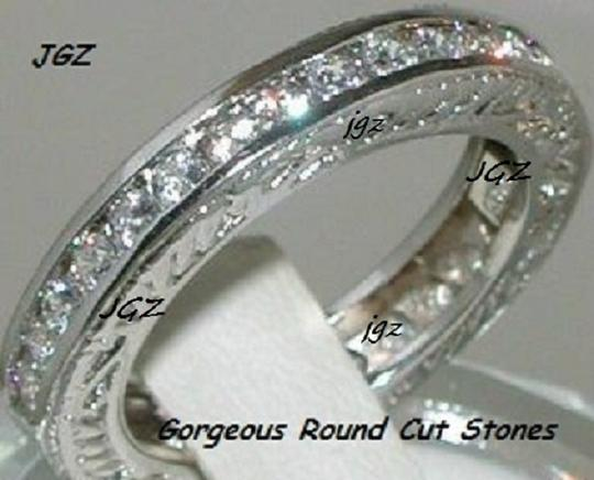 Solid 925 Sterling Silver & Rhodium Platinum Finish 1.50ct Round Brilliant Cut Anniversary Eternity Band * New Exclusive Design * Available 7/8/9 Only * Ring