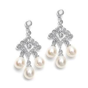 Mariell Z Filigree Scroll With Freshwater Drops 3062e