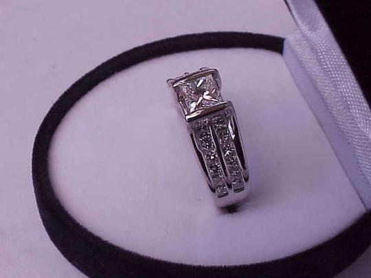 Other $16249 Unisex 2.00ctw Natural Princess Cut Diamond 14k White Gold Ring, IGL Appraisal Included