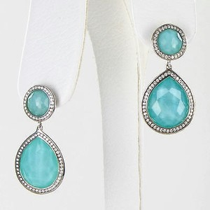 Ippolita Ippolita Stella Lollipop Drop Earrings 0.62cts Diamond Turquoise 925