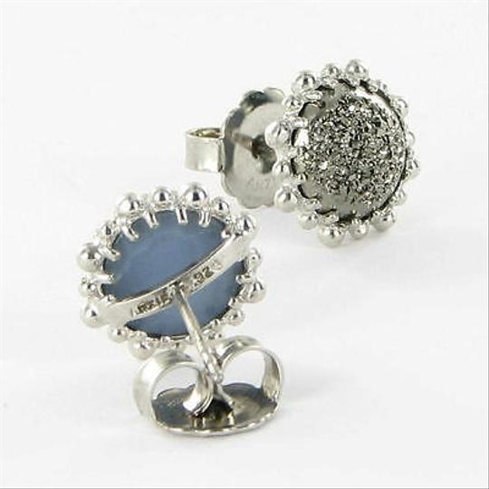 Anzie Anzie Dew Drop Snowflake Stud Earrings Marcasite Drusy Sterling Silver
