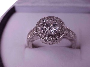 $14879 Estate Vintage 1.57ct Solitaire Brilliant Cut Diamond 14k White Gold ring, Appraisal included