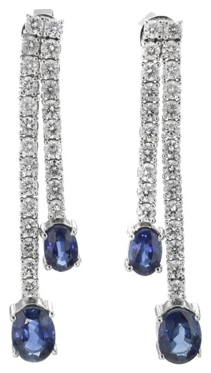 Preload https://item1.tradesy.com/images/other-18k-white-gold-327-sapphire-193-cttw-diamond-dangle-ladies-earrings-3045385-0-0.jpg?width=440&height=440