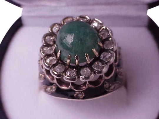 Preload https://item1.tradesy.com/images/white-victorian-enamel-582ct-emerald-and-diamond-14k-gold-ring-304540-0-0.jpg?width=440&height=440