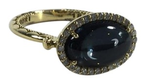Tacori 18k925 Golden Bay Ring 0.18cts Diamonds Blue Topaz Hematite 18k