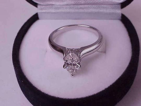 Other $7000 1.01ct Solitaire Marquise Cut Diamond 14kt WG Ring, Appraisal