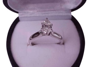 $7000 1.01ct Solitaire Marquise Cut Diamond Engagement 14kt White Gold Ring, Appraisal Included!